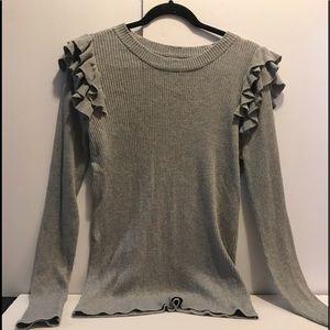 Gray Stylus Rib rub waffle shirt